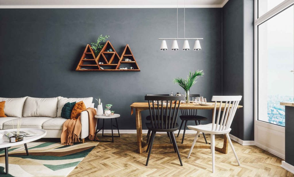 Style scandinave Living And Dining Room